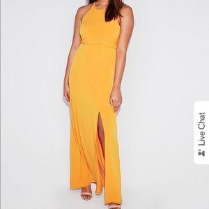 NWT Express high slit maxi dress